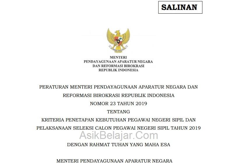 Permen Pan-RB no.23 2019